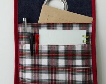 Fabric hanging basket, office storage,  Do not forget organizer