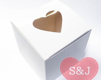10 White 7.5x7.5x7.5cm Cupcake/Cake DIY Wedding Party Gift Favour/Bomboniere Boxes