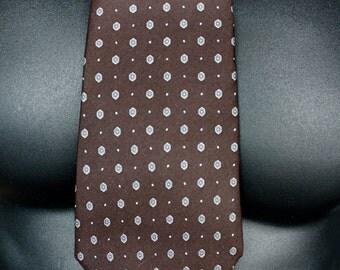 Vintage Christian Dior Silk Necktie/ Chocolate Brown