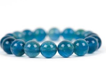 Blue Fluorite Bracelet, Healing Bracelet, Natural Gemstone Stacking Bracelet, Handmade Gemstone Jewelry