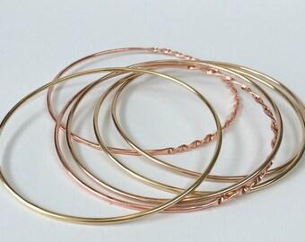 Copper, Brass, & Bronze Bangles