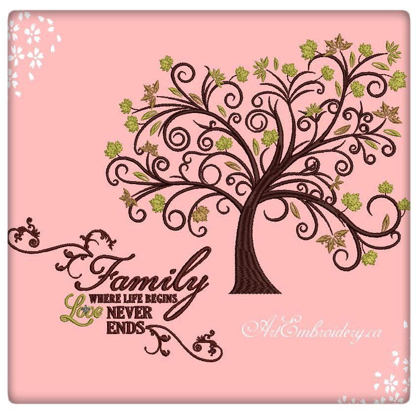 tree machine embroidery designs