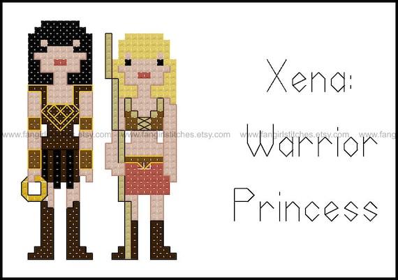 Xena Warrior Princess Inspired Cross Stitch Pattern Pdf