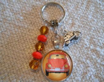 Retro VW Beetle Keychain
