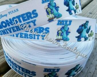 """3 yards 7/8"""" grosgrain Monster university ribbon"""