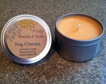 Nag Champa - 6 oz. Scented Soy Candle Tin