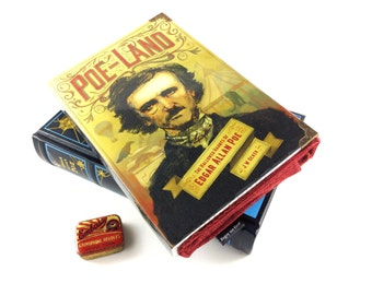 """Edgar Allan Poe, Poe Clutch, Poe Purse, Clutch bag made out of a book, """"All that we see or seem is but a dream within a dream"""""""
