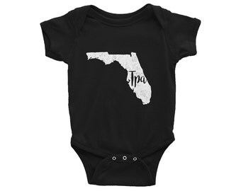 Tampa Bodysuit // Florida One-Piece // TPA // Gender Neutral // Baby Shower Gift // Infant Gift // The Busy Bee