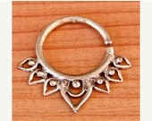 ON SALE 15% OFF Septum Ring - Septum Jewelry - Septum Piercing - Septum Cuff - Indian Nose Ring - Indian Septum Ring - For Pierced Nose (Cod