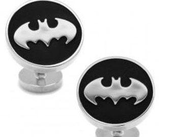NIB Officially Licensed Recessed Black Batman Cufflinks