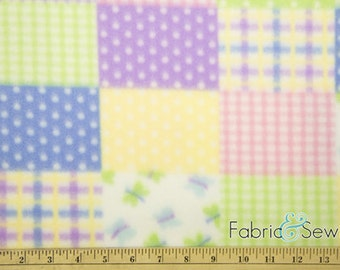 Pretty Lil' Patchwork Anti-Pill Polar Fleece Fabric Polyester 13 Oz 58-60""