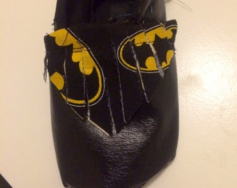 Batman booties 0-12 months available , made to order