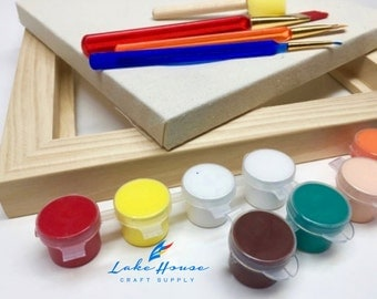 Painting KIT with Canvas, Frame, Paints and more SALE