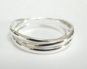 Sterling Silver Russian Wedding ring - Wedding Band