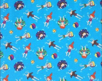 Jersey Little Swimmers 150cm, 95 percent cotton 5 percent elastane