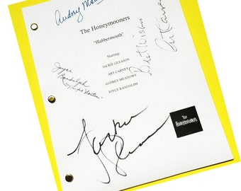 "The Honeymooners TV ""Blabbermouth"" Signed Script Autographed Jackie Gleason, Art Carney, Audrey Meadows, Joyce Randolf"