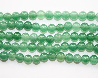 Jade, Green Jade Beads, Round Jade, Green Beads - 6mm - 60ct - D018