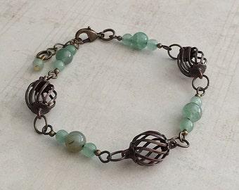 Green Bead Bracelet, Green Beaded Bracelets, Green Bracelet, Aventurine Bracelet, Green Aventurine Bead Bracelet, Green Bangle, Green Beads