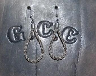 """Custom Horsehair Earrings - """"Bosal"""" style earrings"""