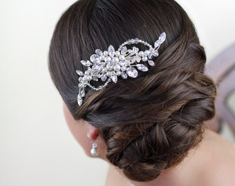 Bridal Headpiece Emily, Bridal comb, Wedding Accessories, Wedding headpiece, Pearl and crystal Headpiece, Bridal Hair Jewelry