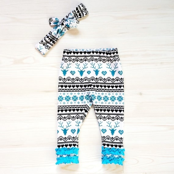 home outfit fair isle legging newborn photo prop winter baby shower