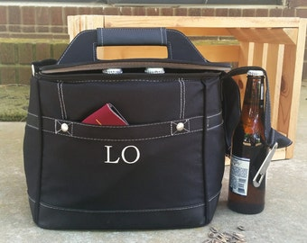 5 Personalized Groomsmen Insulated Cooler w/ Removable Beer Dividers - Beer Coolor Personalized - Insulated Beverage Bag - Groomsman Gift