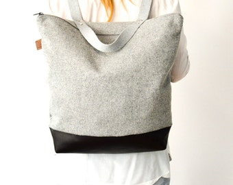 Cachemire backpack / Grey cachemire / Backpacks