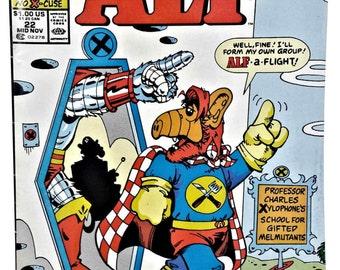 ALF-MARVEL-1988-Series-22-NEWSSTAND-Comics-Book-Mid-Nov-Marvel-Comics-Classic