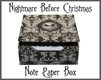 Nightmare Before Christmas Note Card Box