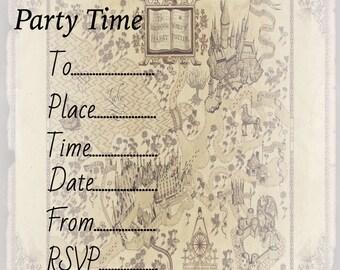 Harry potter invitation Etsy UK