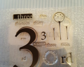 Number 3 stamp set