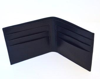 Leather Bifold Wallet, Black Leather Wallet, Men's Wallet