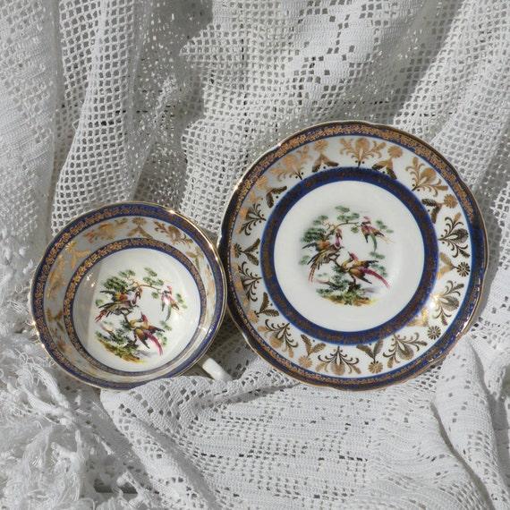 English Royal Grafton fine bone china cup and saucer, vintage cup and saucer, decorative cup and saucer, tea cup and saucer, decorative cup