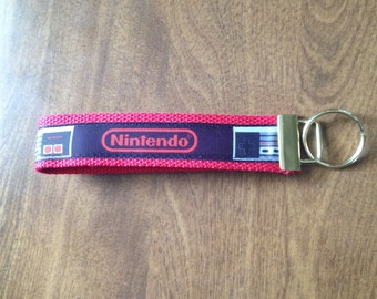 Nintendo wristlet key fob holder, Zipper Pull Key Chain