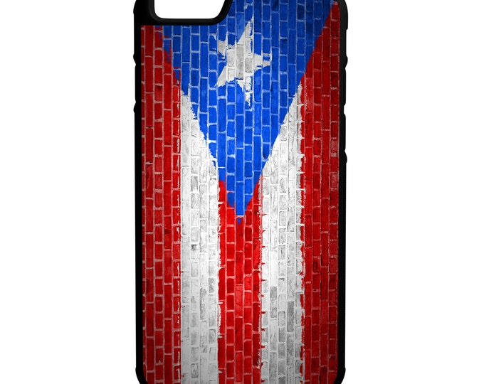 Puerto Rico Flag on Brick Wall Flag iPhone Galaxy Note LG HTC Hybrid Rubber Protective Case