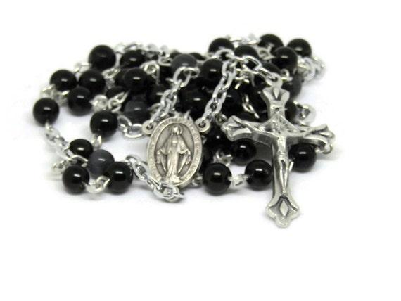 Catholic Wedding Gift For Groom : Rosary for GroomWedding GiftWedding Rosary NecklaceCatholic ...