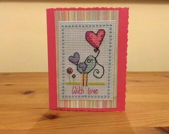 Cute Bird Valentine's Card