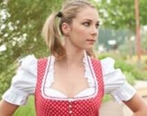 Dirndl blouse white  Vintage Dirndl Top Oktoberfest Traditional Costumes for Women German Dirndl Dress