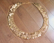 Belly Dance Professional Coin Chain Belt...Exotic High Quality Hand made design