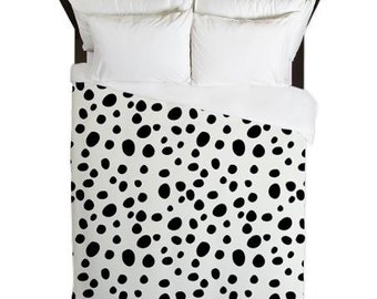 Duvet Cover, Dalmatian Print, Dalmatian Duvet, Black and White Duvet Cover, Girls Duvet Cover, Teen Bedding, Teen Duvet, Gifts for Her