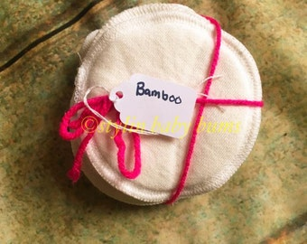 3 pairs Organic bamboo fleece or organic cotton nursing pads- FREE SHIPPING