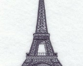 EIFFEL TOWER -  Machine Embroidered Fabric Square/Quilt Block, Home Décor