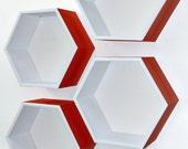 Honeycomb // Hexagon Shelves - Set of 4 - Custom to your room