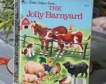 Vintage Little Golden Book  The Jolly Barnyard 1978