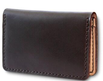 Big Red Bi-Fold Wallet - Black Veg Tan