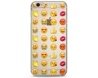 Emoji iPhone Case, iPhone 6 plus clear case Transparent iPhone Case, iphone 7 case, iphone 7 plus case