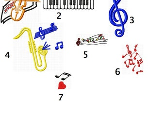 7 music embroidery file embroidery file instant download