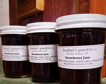 Small Batch Handmade B&P's Classic Strawberry Jam  - Set of Three