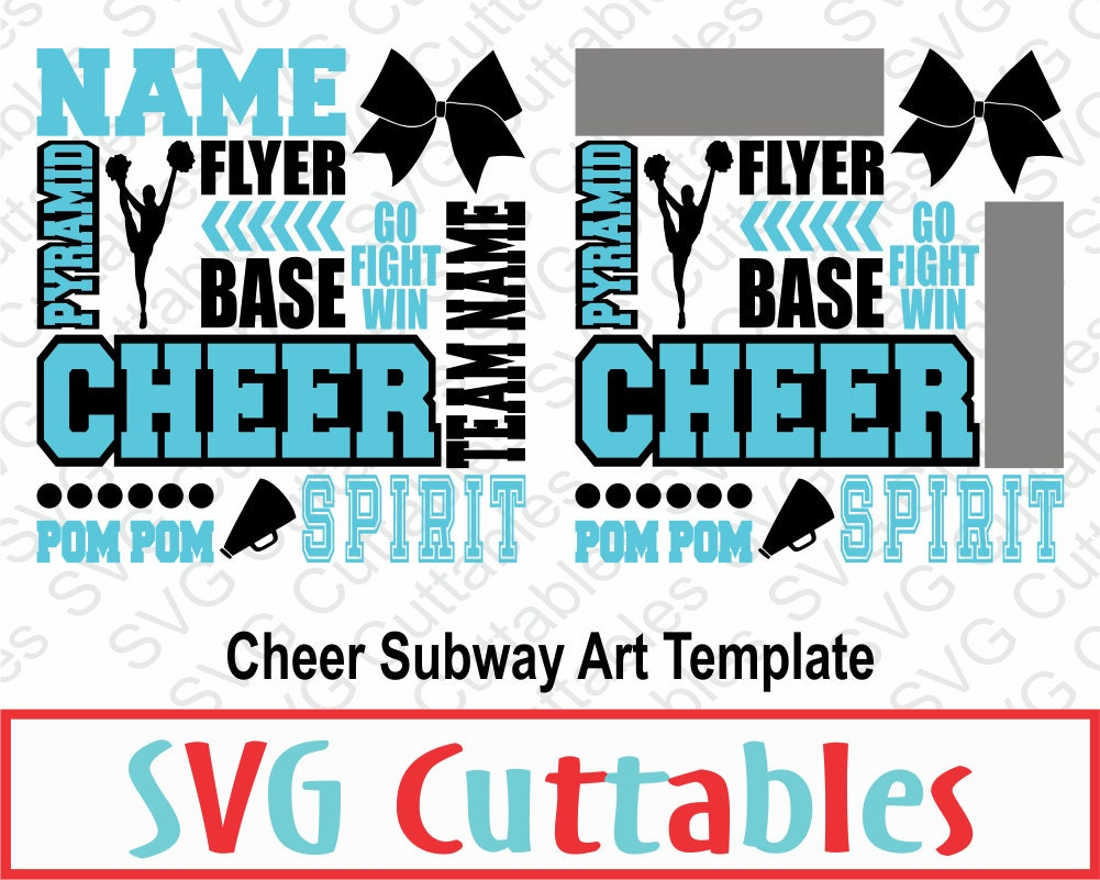 cheer subway art svg  cheer svg  dxf  digital cut file