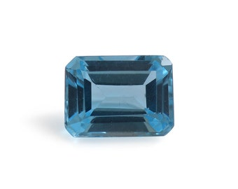 Swiss Blue Topaz Octagon Cut Loose Gemstone 1A Quality 8x6mm TGW 1.50 cts.